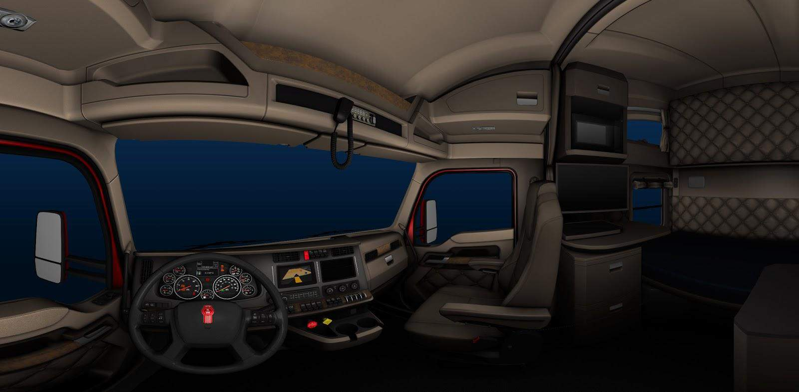 Kenworth T680 Truck Interior For Ats Game American Truck