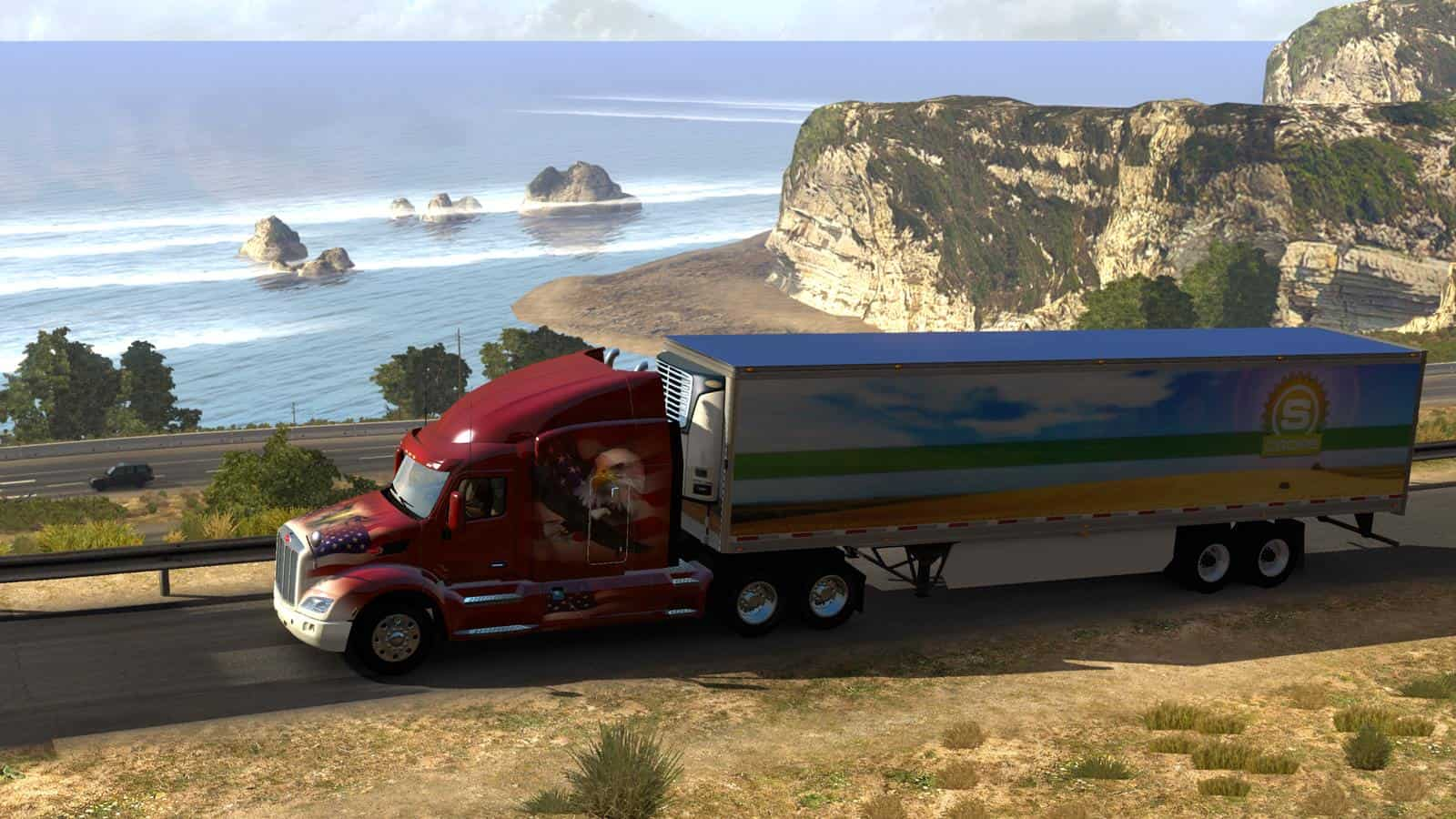 Peterbilt 579 truck presented by American Truck Simulator