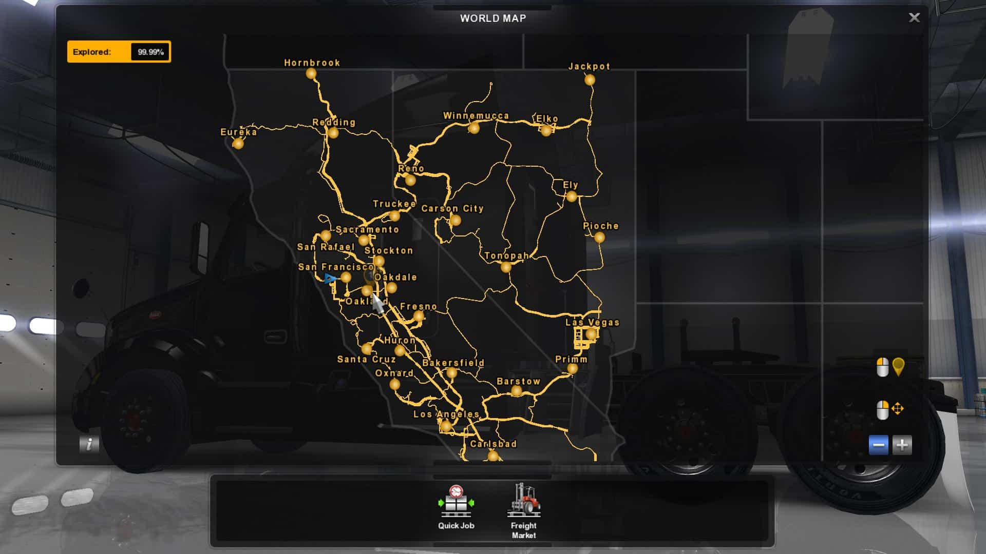 100% SAVE GAME + FREE CAM ATS - American Truck Simulator mod | ATS mod