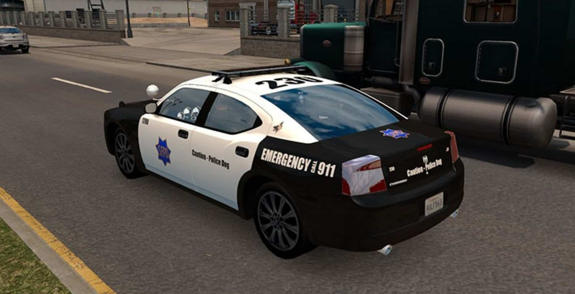 ai police dodge charger mod american truck simulator mod ats mod. Black Bedroom Furniture Sets. Home Design Ideas