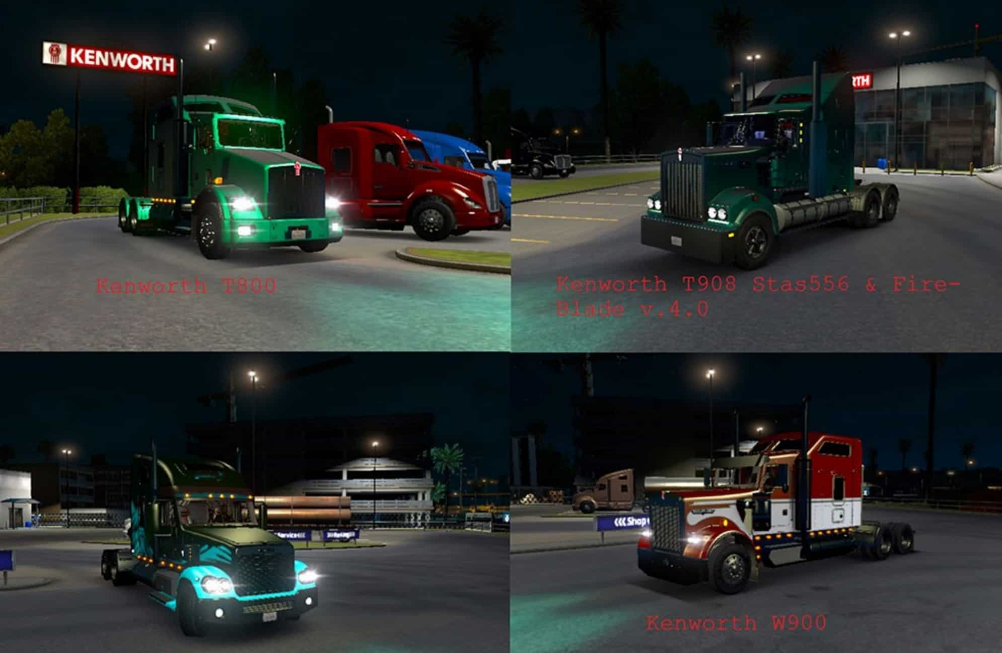 ATS 28 Trucks Xenon Light Turquoise & Light Green Pack v 3 0