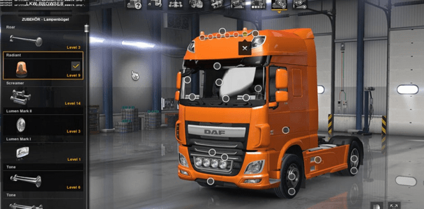 ats daf xf euro 6 truck with all cabins accessories. Black Bedroom Furniture Sets. Home Design Ideas