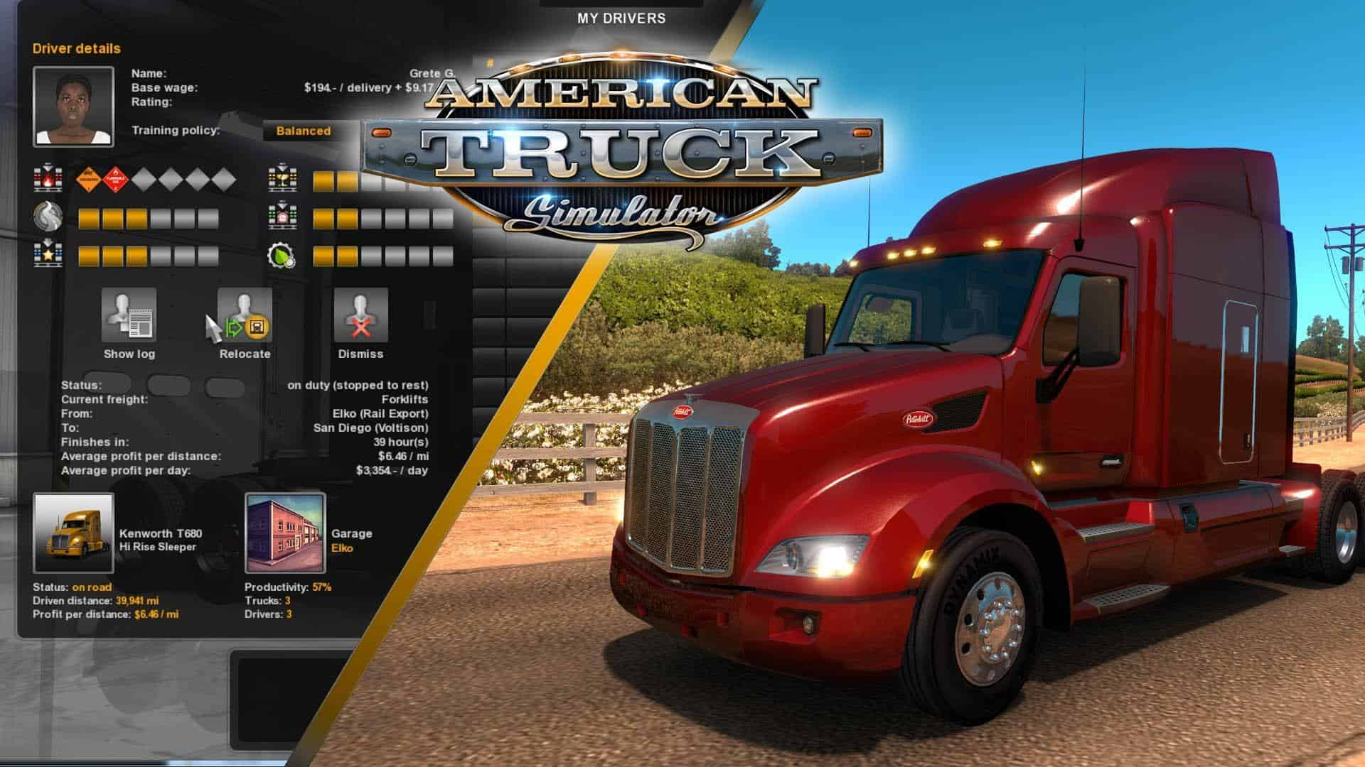 american truck simulator game features american truck. Black Bedroom Furniture Sets. Home Design Ideas