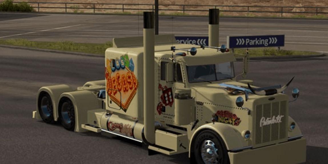 American Truck Simulator Las Vegas Truck Skin American