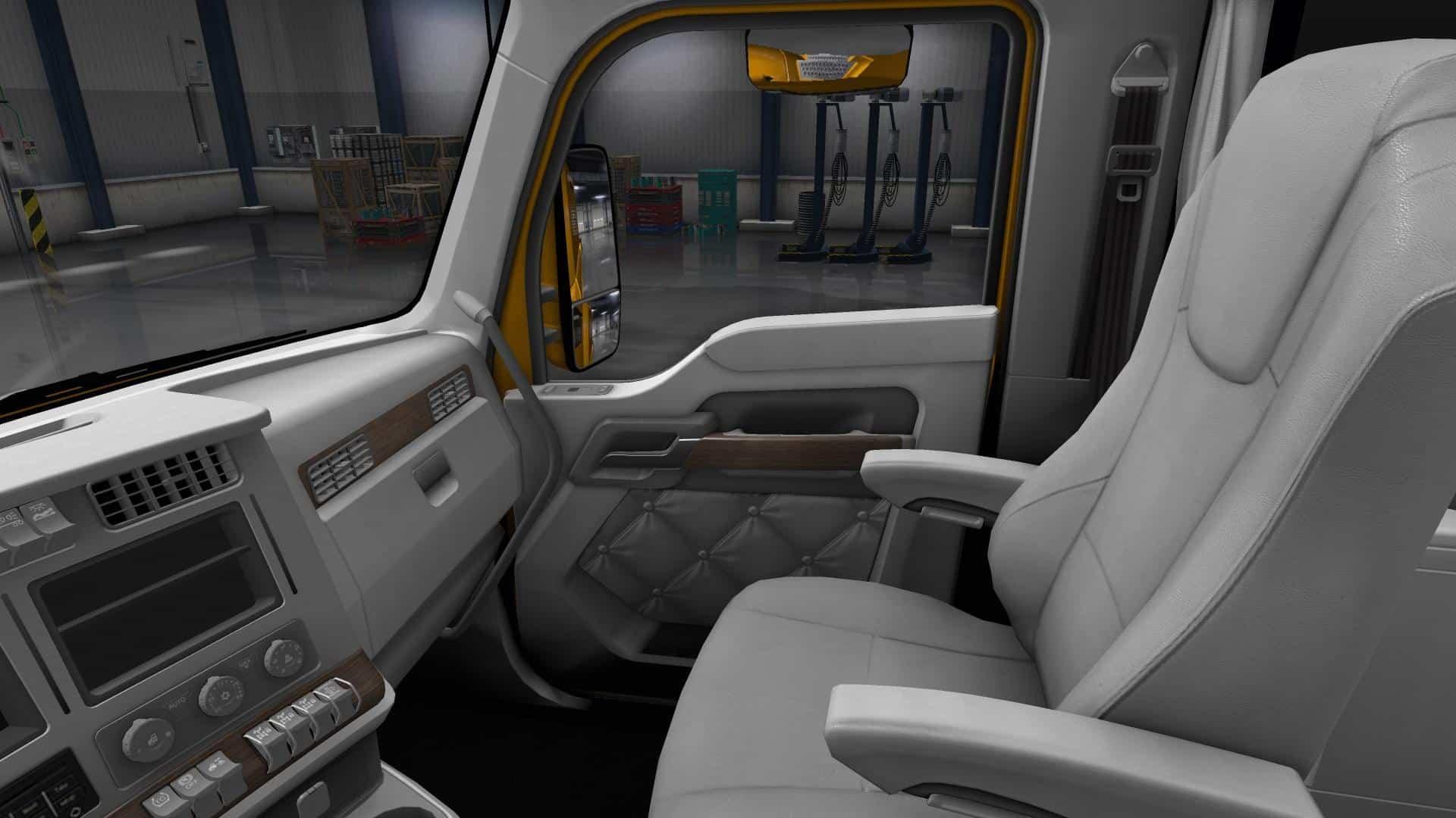 Kenworth T680 White Gauges Truck Interior V1 2 American Truck Simulator Mod Ats Mod