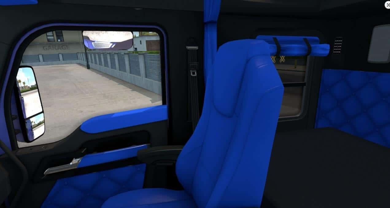 Kenworth T680 Bluey Interior For Ats American Truck Simulator Mod Ats Mod
