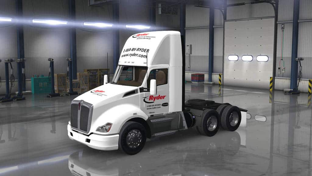 rambow145 also Watch likewise Flatbeds in addition Transportation furthermore Kenworth T680 Daycab Ryder Skin Mod. on flatbed semi trailers