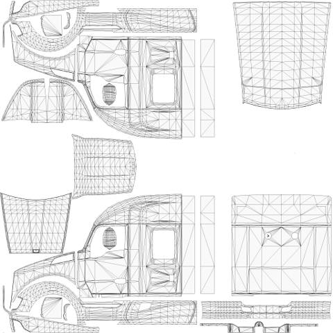 Kenworth T680 Templates For Ats on peterbilt t800
