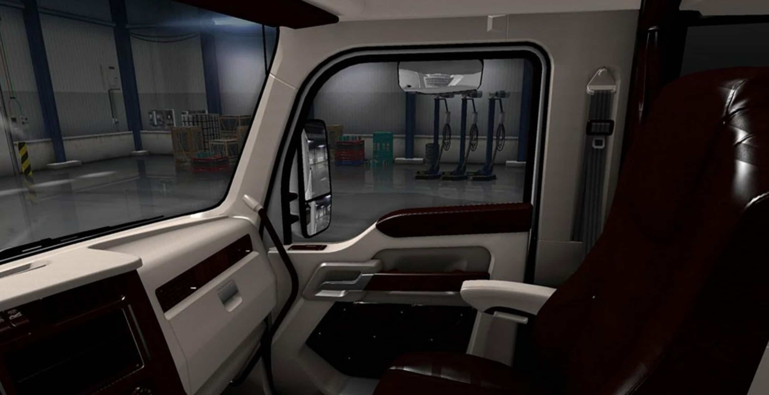 Kenworth T680 White Lux Interior Mod