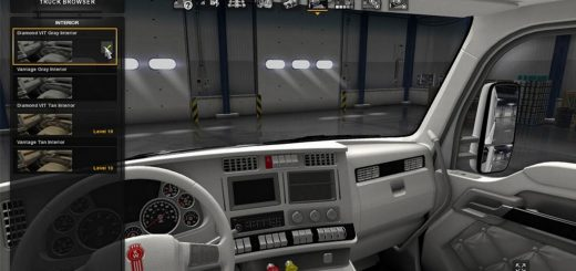 Kenworth T680 Bluey Interior For Ats American Truck Simulator Mod