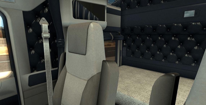 kenworth w900 blue white interior ats american truck simulator mod ats mod. Black Bedroom Furniture Sets. Home Design Ideas