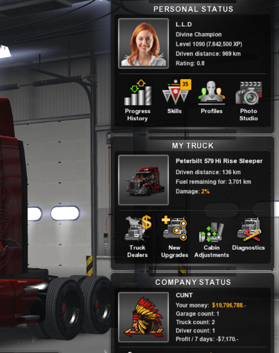 Level 1090 & 20 million for ATS - American Truck Simulator
