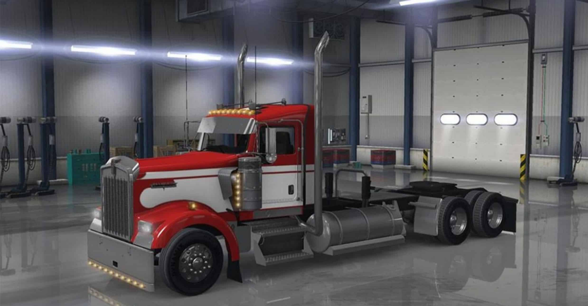 Long Frame For W900 Daycab + Wing Unlocked Mod