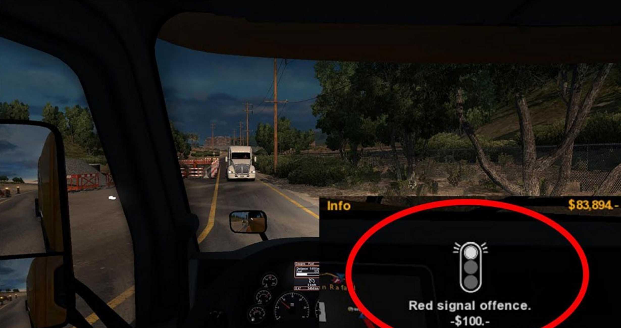 Lower Police Fines Mod American Truck Simulator Mod