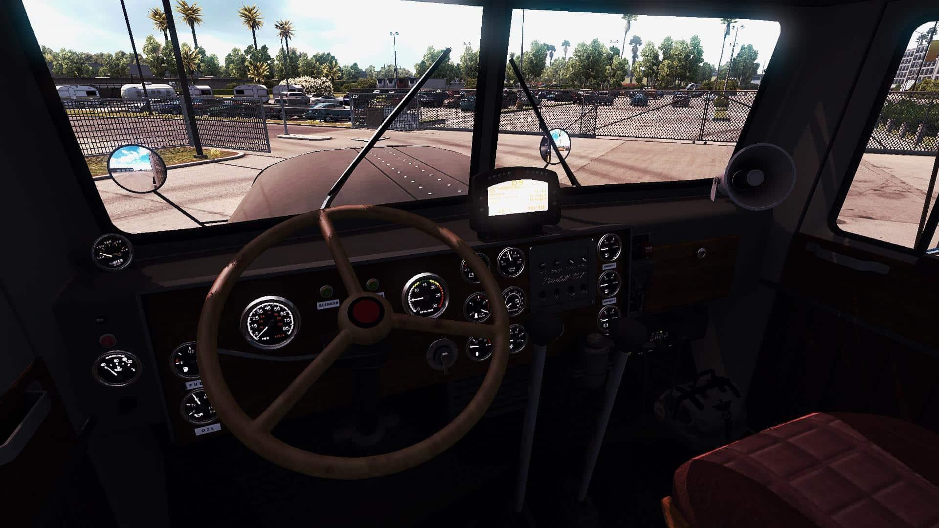 Peterbilt 351 Truck Interior V3 0 American Truck Simulator Mod Ats Mod