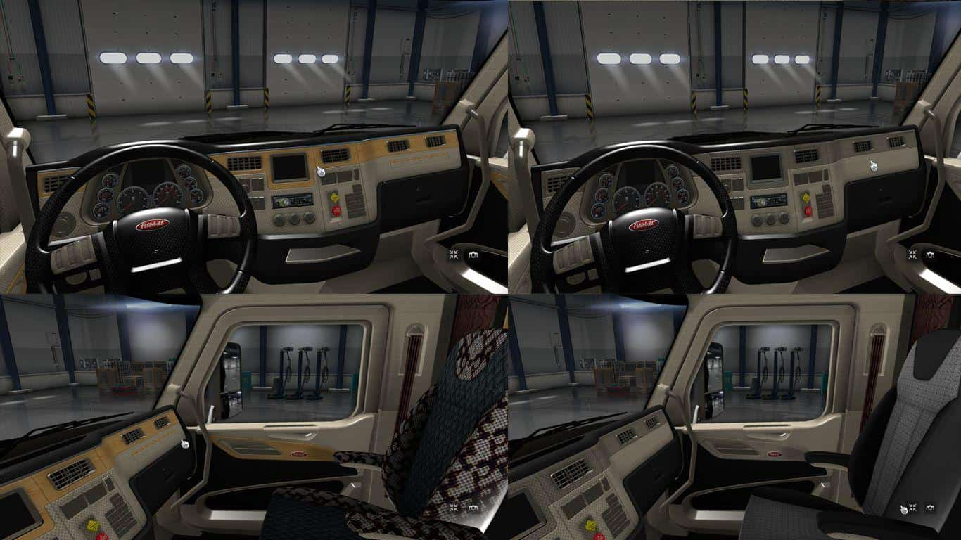 Peterbilt 579 interior mod american truck simulator mod - Peterbilt 379 interior accessories ...
