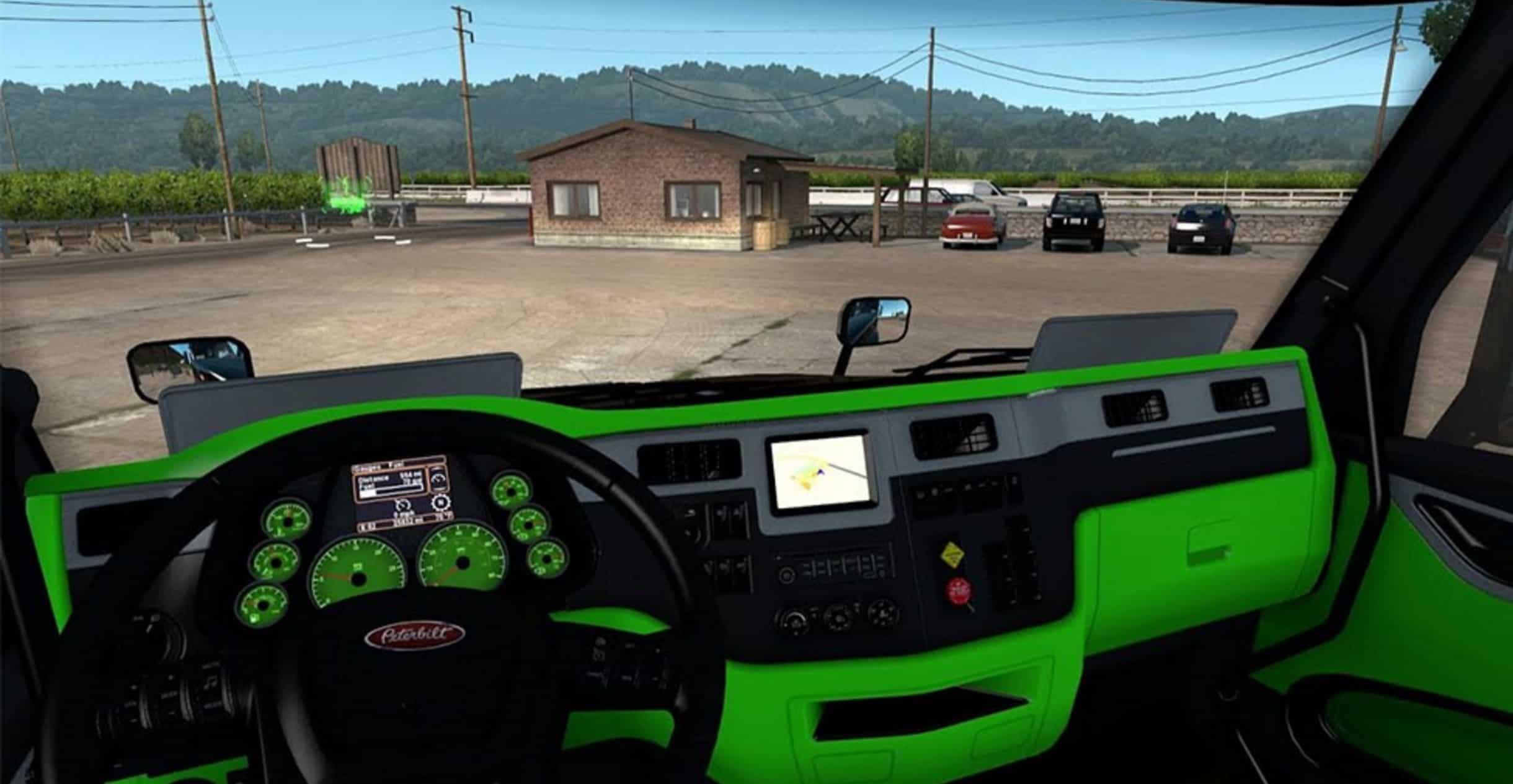 Peterbilt 579 Neon Green Interior ATS Mod