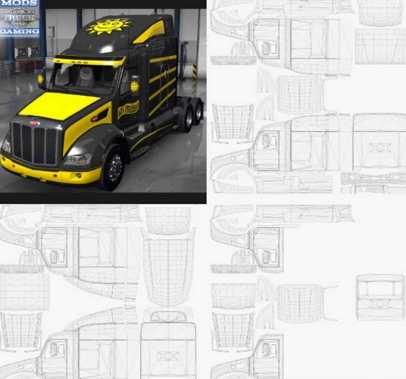 peterbilt 579 templates for ats american truck simulator mod ats mod
