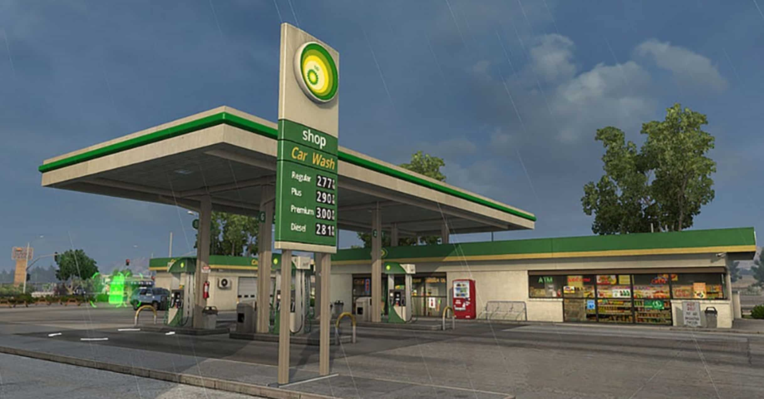 real brands for gas station for ats american truck simulator mod ats mod. Black Bedroom Furniture Sets. Home Design Ideas
