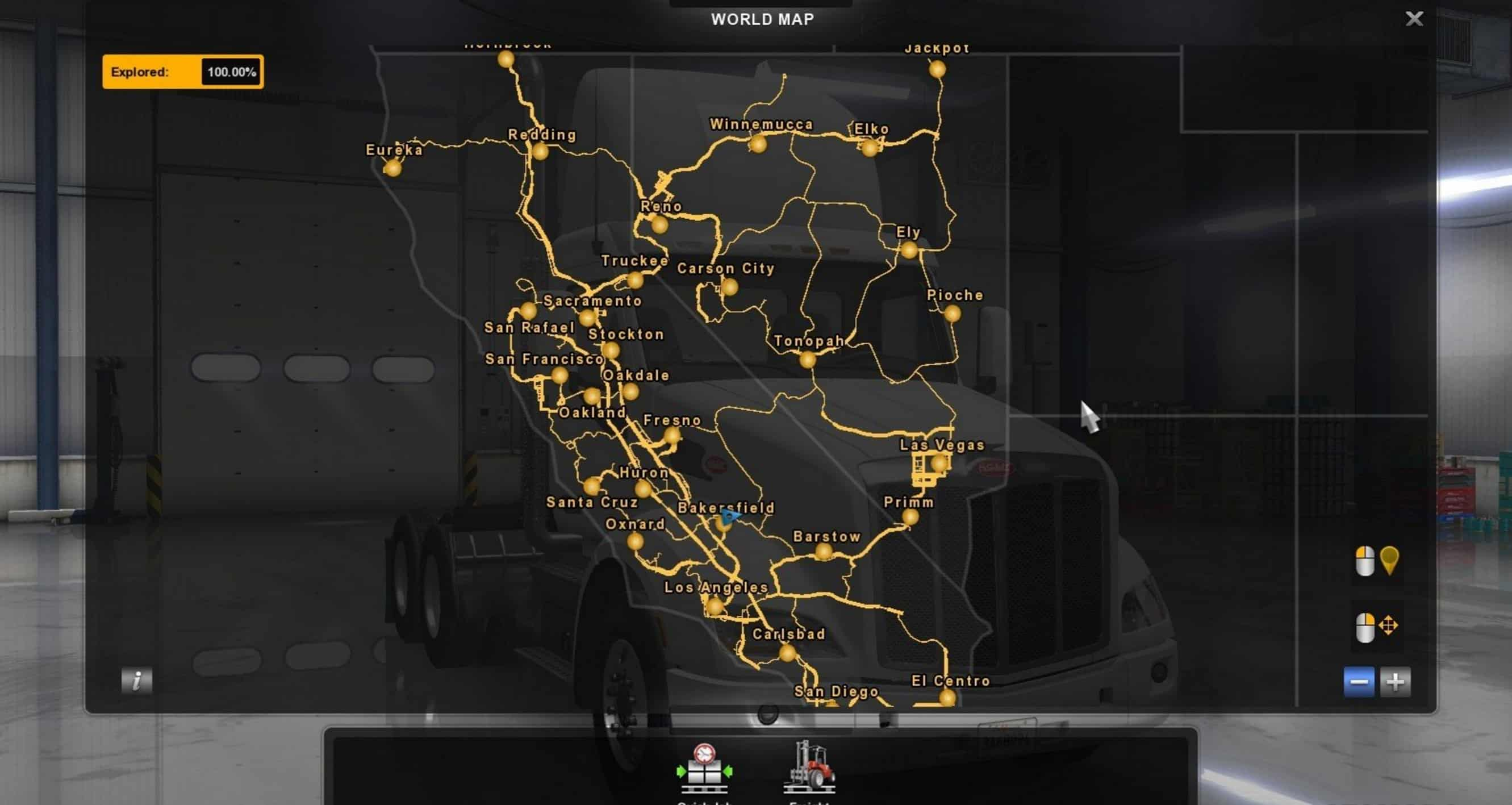 Savegame Complete 100% Map Explored - American Truck