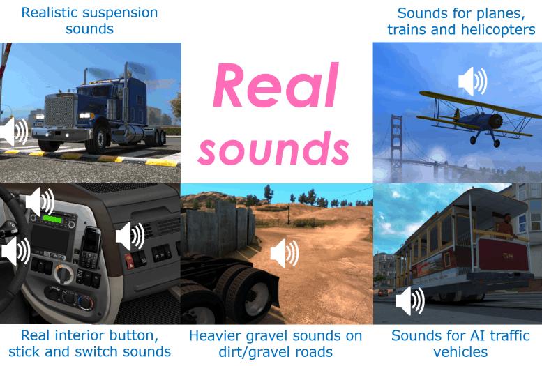 Sound Fixes Pack v12 2 Mod - American Truck Simulator mod