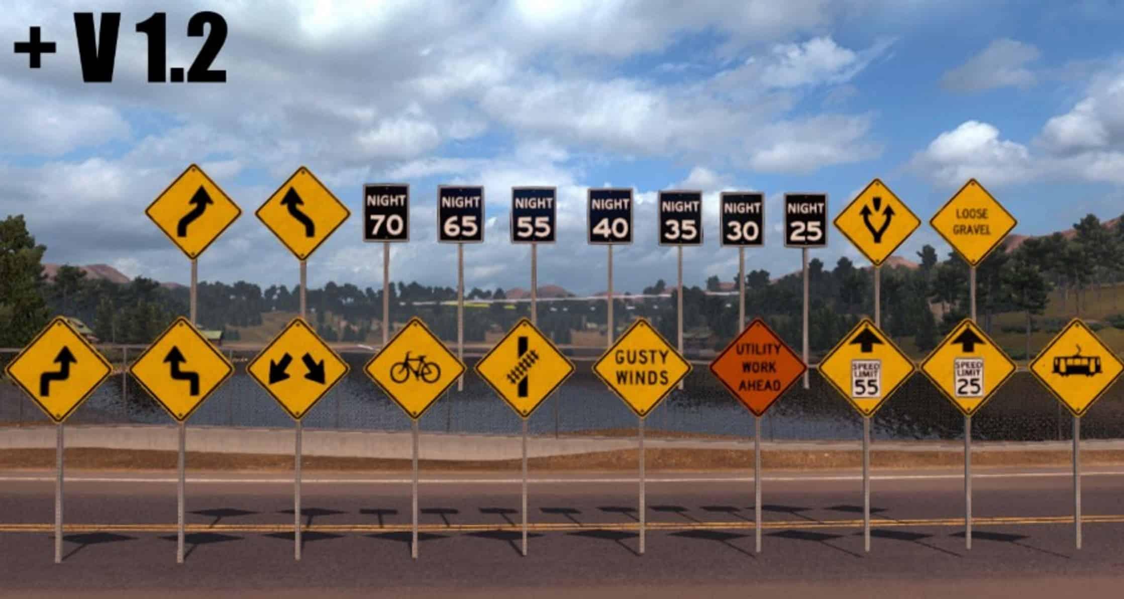 Traffic Signs Pack V1 2 More Sign Assets Mod American