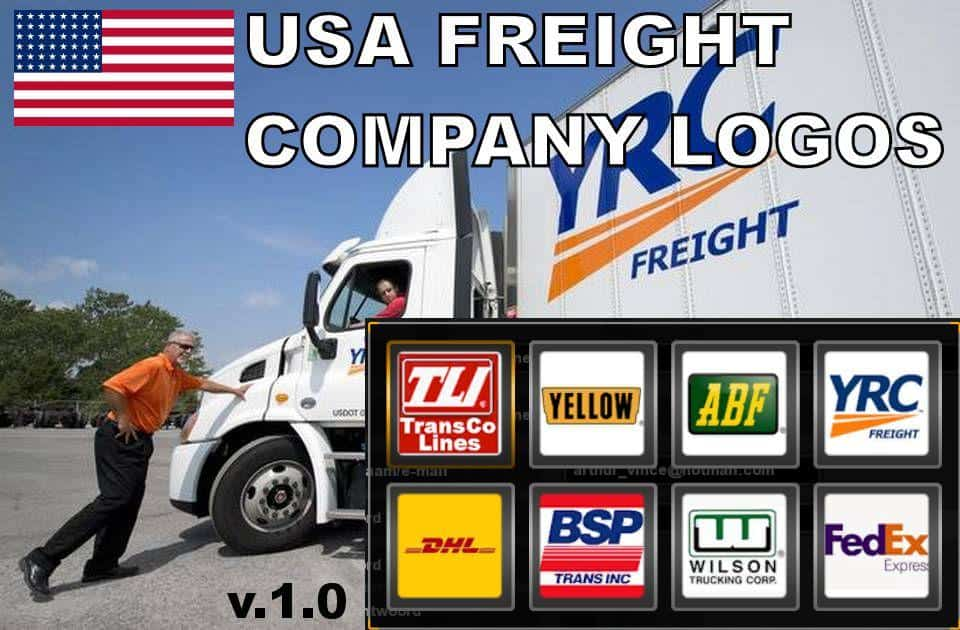usa freight company logos v10 mod american truck