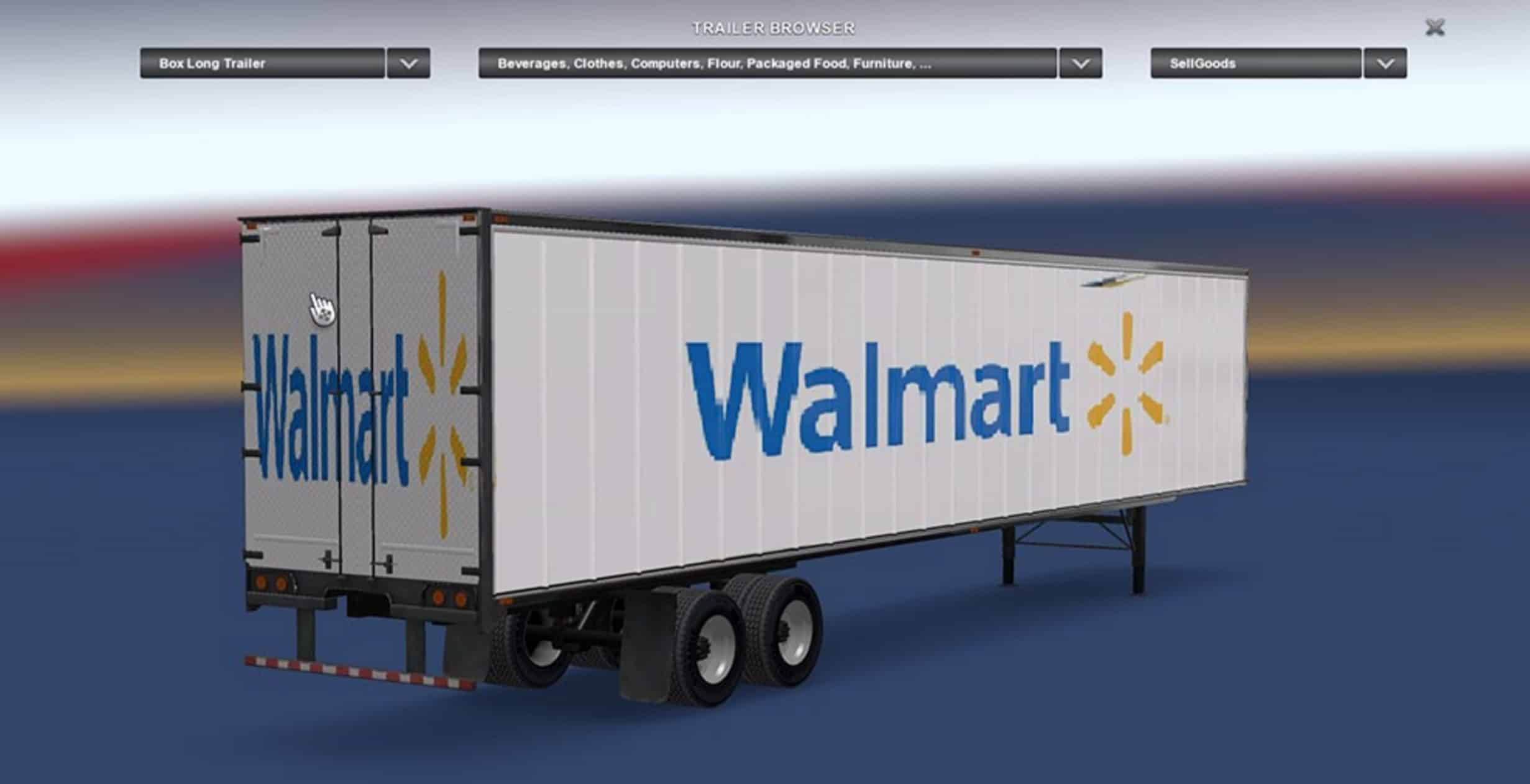 walmart trailer by jako2015 american truck simulator mod ats mod. Black Bedroom Furniture Sets. Home Design Ideas