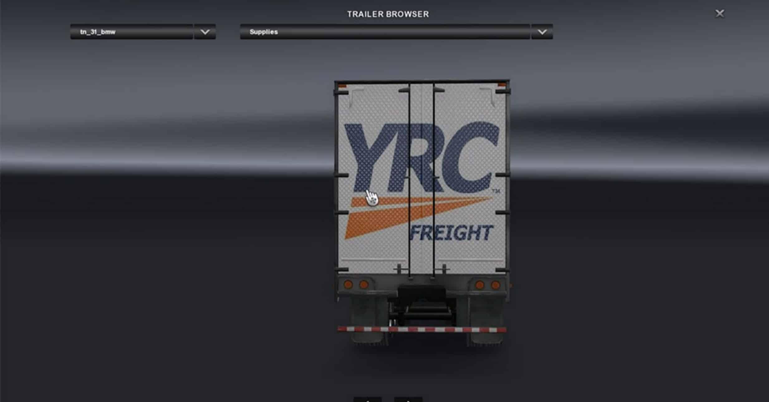 Yrc Freight Trailer Mod - American Truck Simulator mod | ATS mod