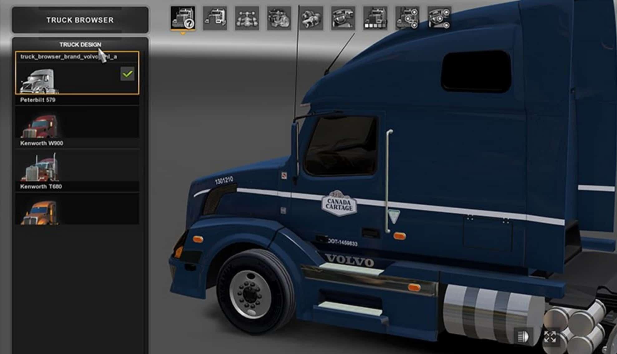 Canada Cartage Volvo VNL Skin - American Truck Simulator ...