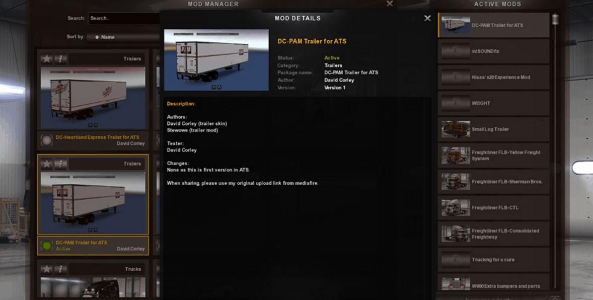 Dc Pam Trailer For Ats Mod American Truck Simulator Mod Ats Mod