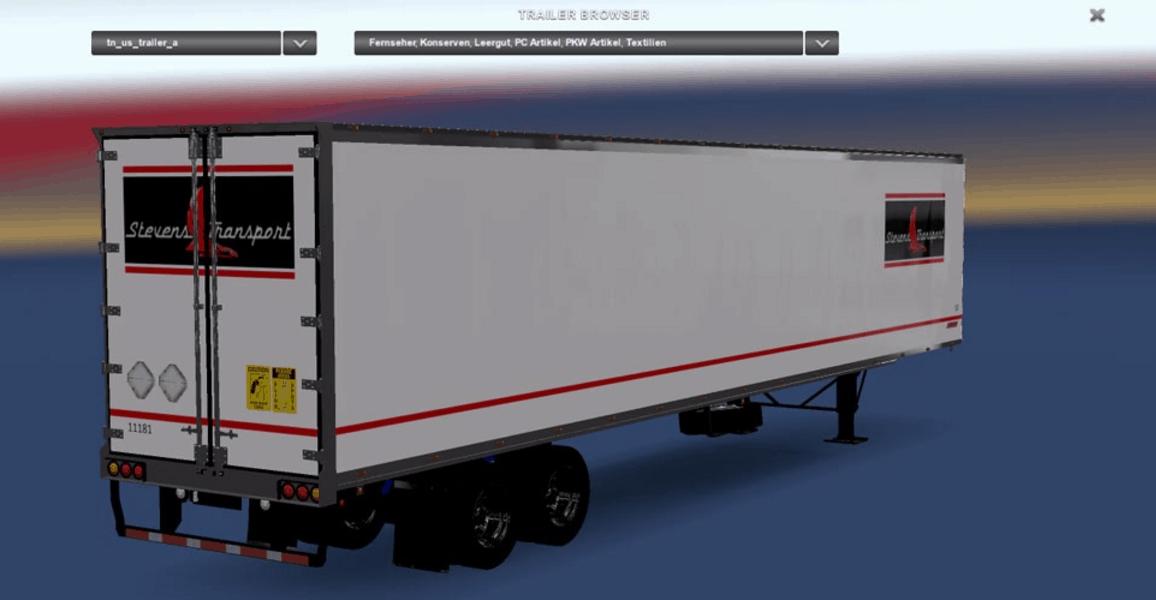 Dc Stevens Transport Trailer Mod American Truck Simulator Mod Ats Mod