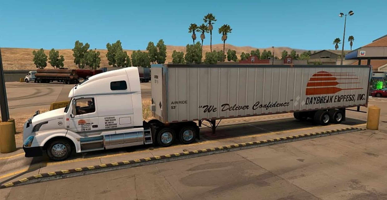 Daybreak Express Volvo VNL 670 Skin - American Truck ...