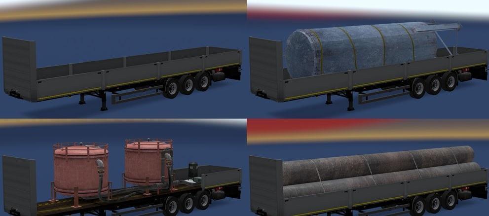 KOEGEL FLATBED PACK for FS 15 - American Truck Simulator mod