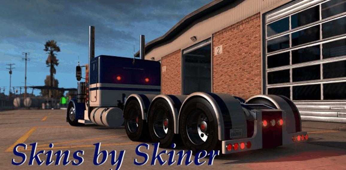 Peterbilt 389 Equipment Express Custom Metallic Truck Skin ...