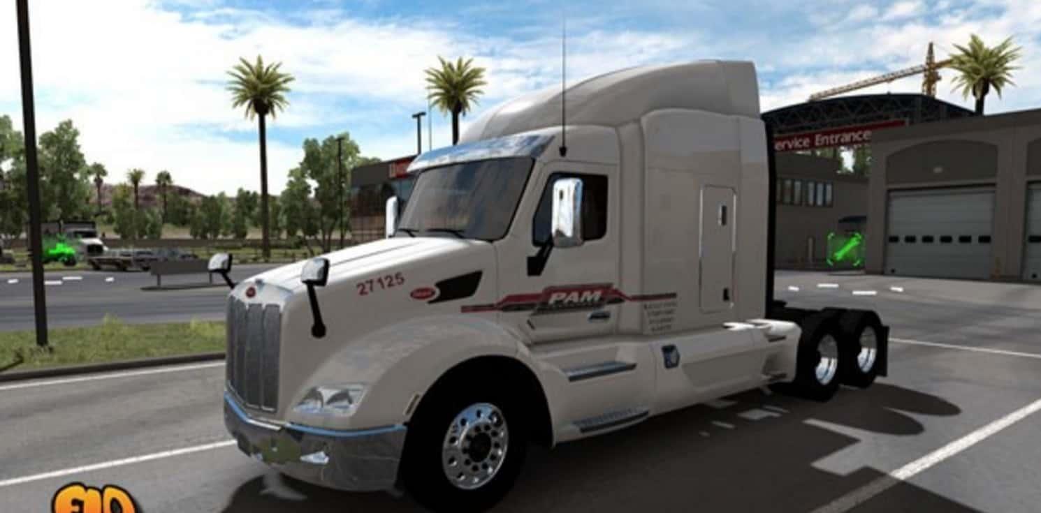 Peterbilt 579 P A M Transportation Services Inc Skin Mod American Truck Simulator Mod Ats Mod