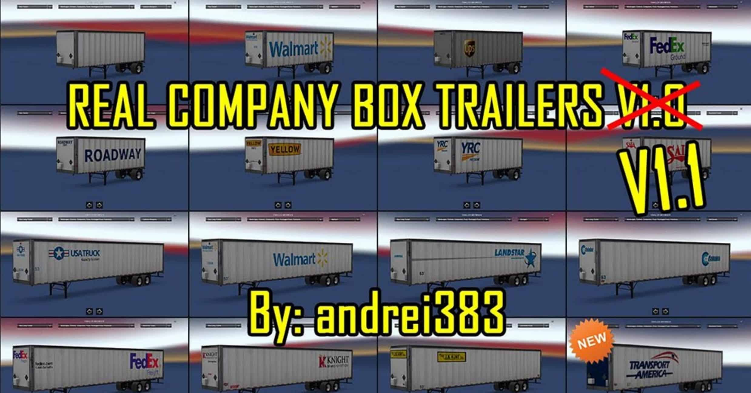 Real company box trailers v1 1 pack american truck for American classic realty