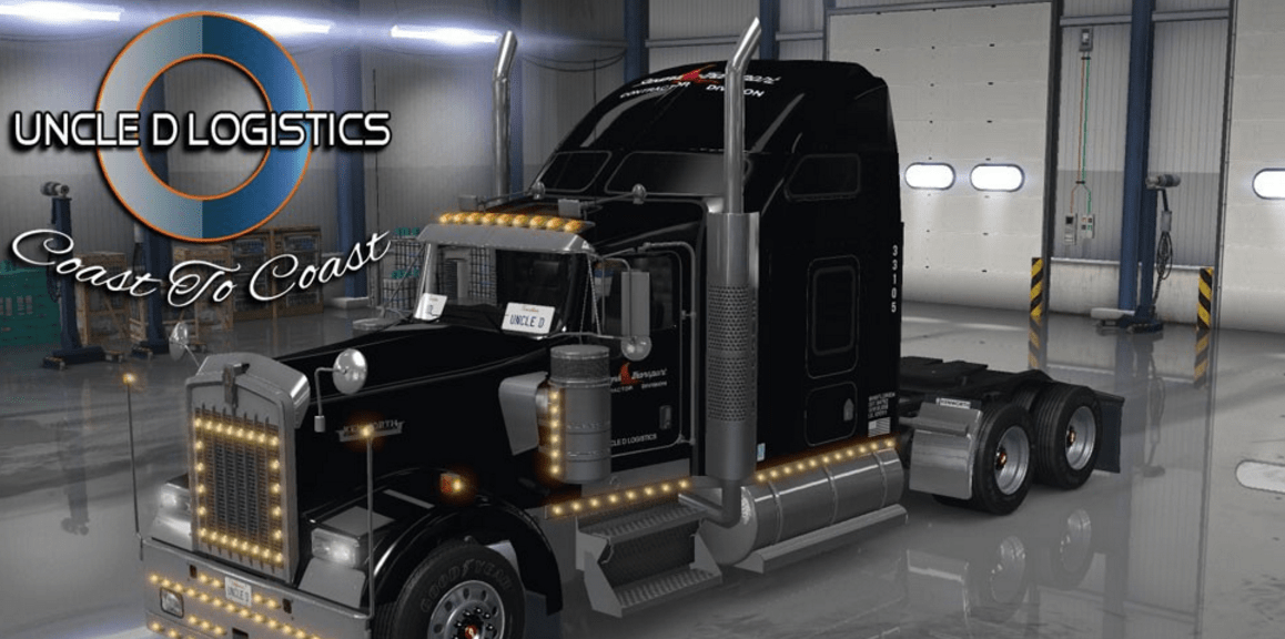 Stevens Transport Default Kenworth W900 Uncle D Logistics Skin Ats American Truck Simulator