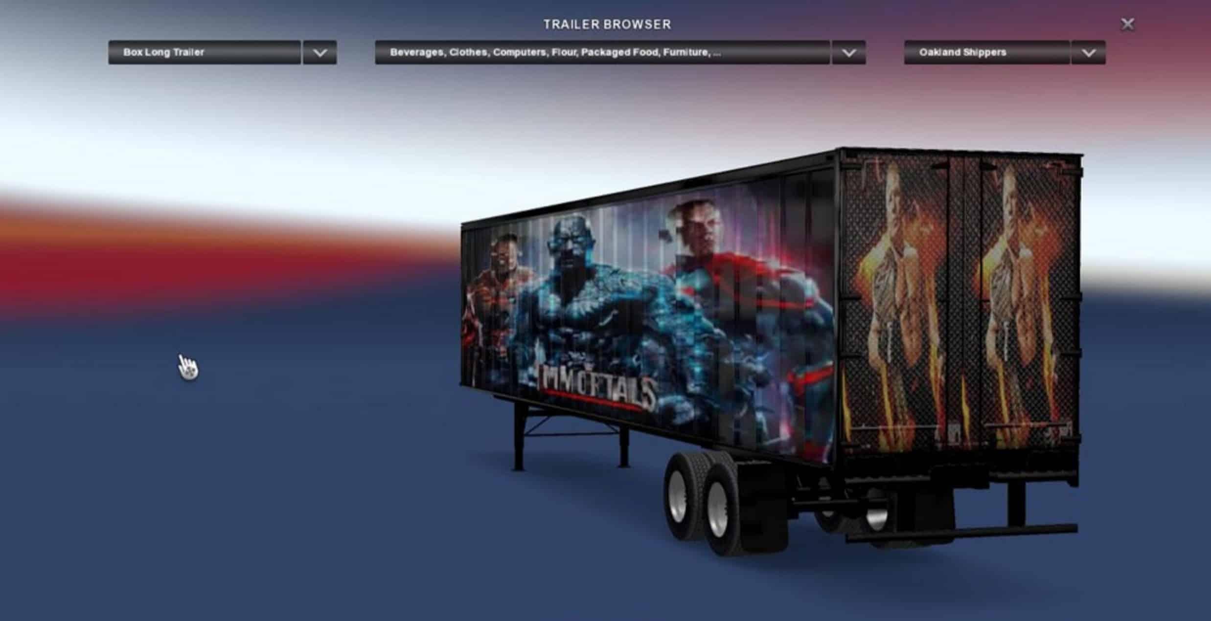 WWE Wrestle Mania Immortals Trailer Mod - American Truck