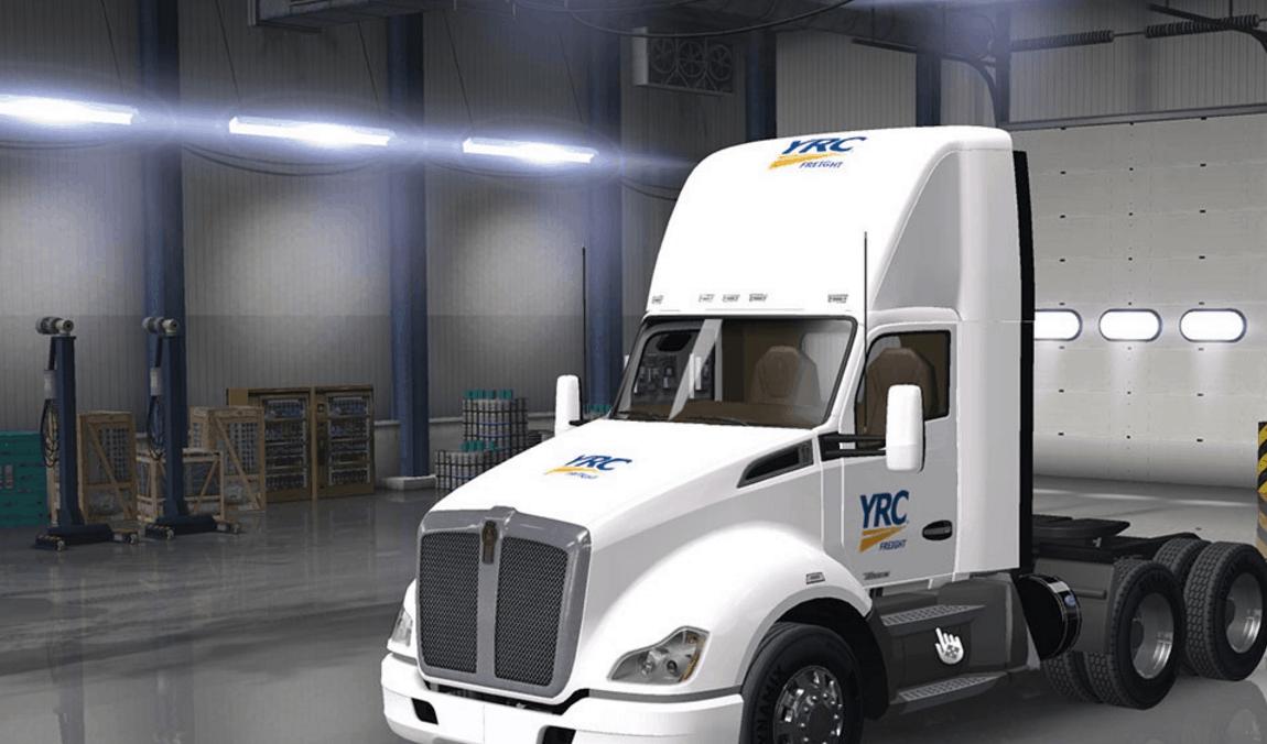 YRC Freight Skin Mod - American Truck Simulator mod | ATS mod