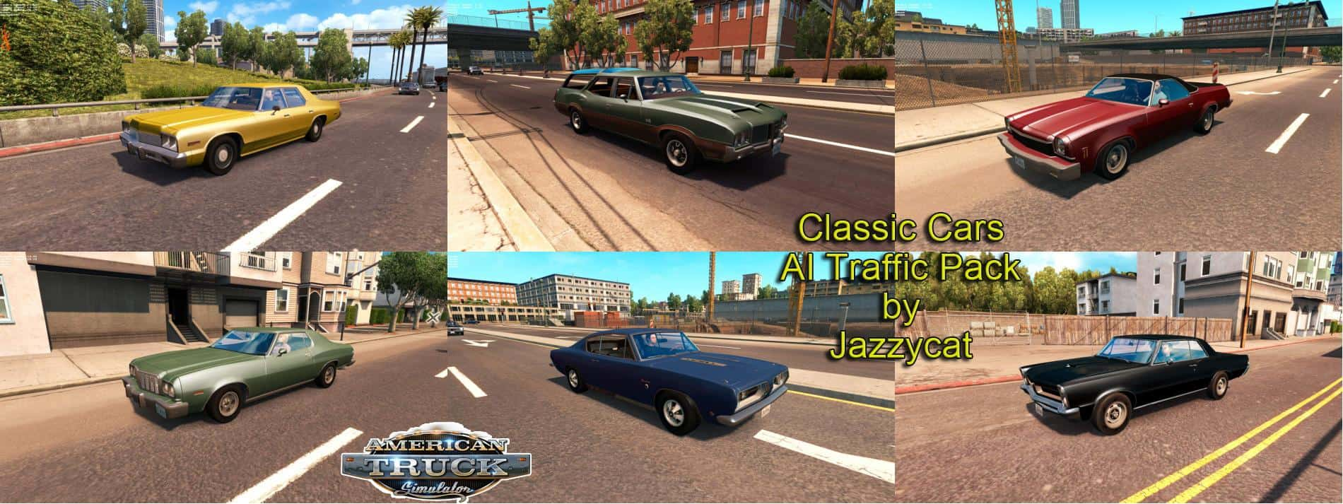 Classic Cars Ai Traffic Pack By Jazzycat V1 1 For Ats