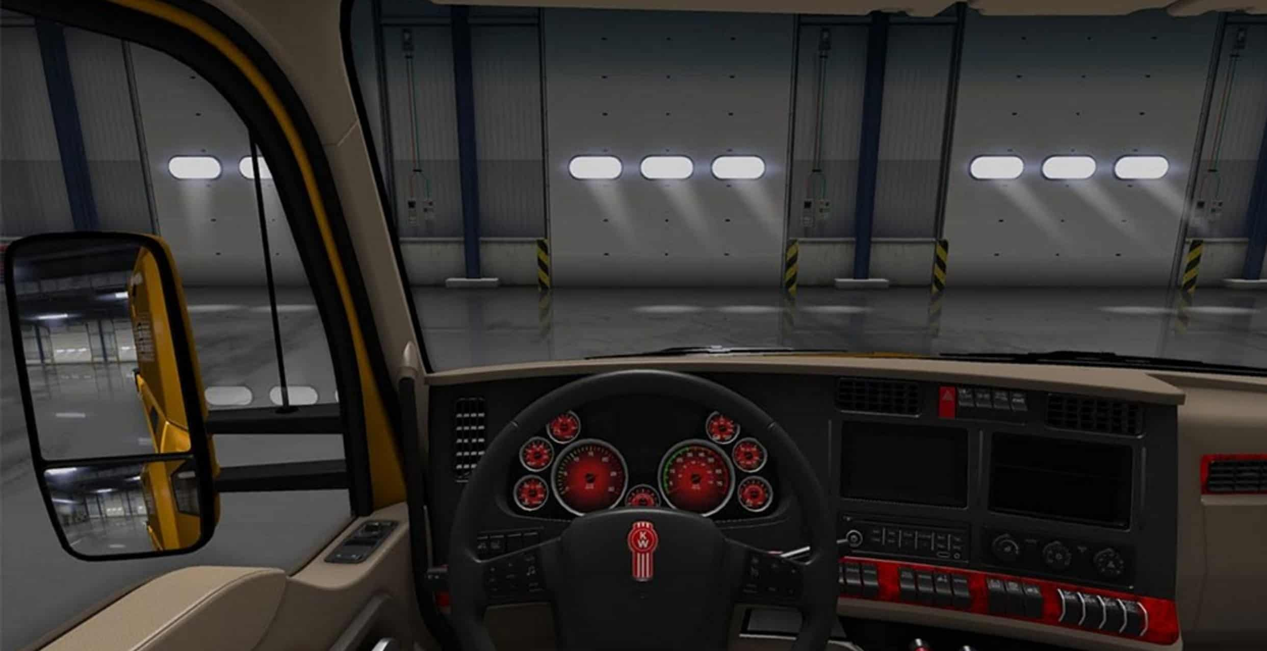 Kenworth t680 Dashboard red Mod 2 kenworth t680 dashboard red mod american truck simulator mod fuse box in kenworth t680 at honlapkeszites.co
