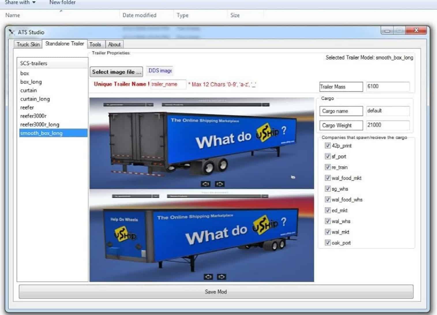 Mod Maker for ATS - American Truck Simulator mod | ATS mod