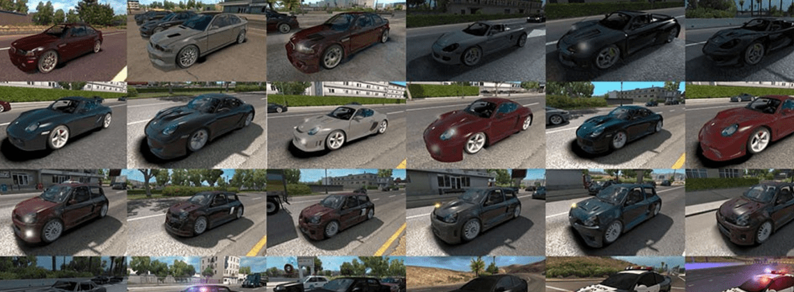 NFS: Most Wanted traffic pack - American Truck Simulator mod | ATS mod