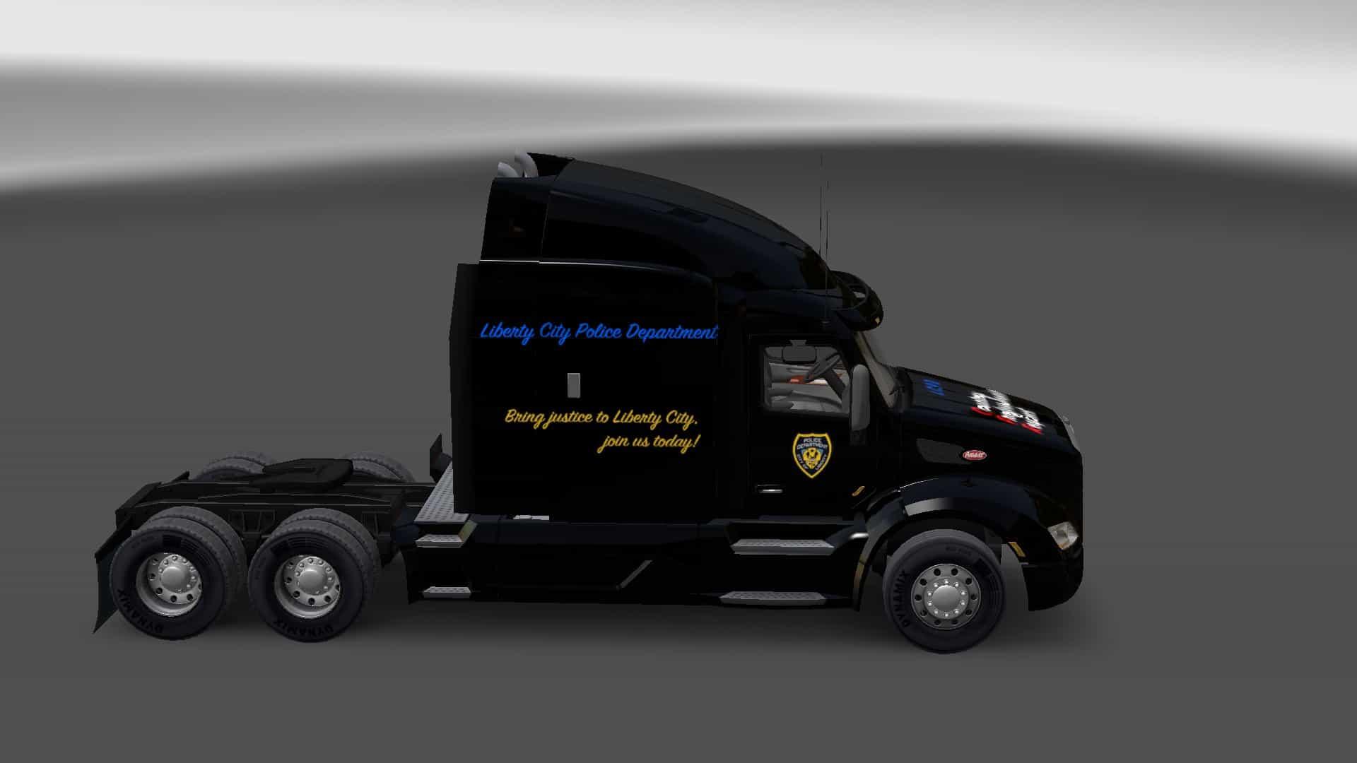 Peterbilt 579 Liberty City Police Department Skin ...