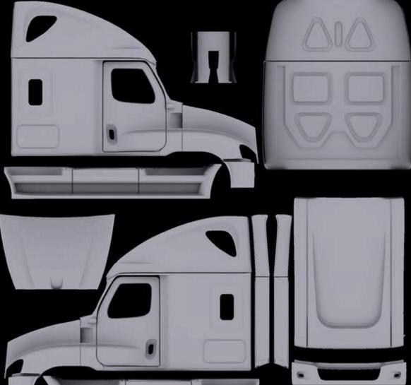Truck Template | Us Trucks Template Ats American Truck Simulator Mod Ats Mod