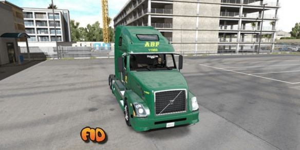 Volvo VNL 670 ABF Freight System, Inc. Skin
