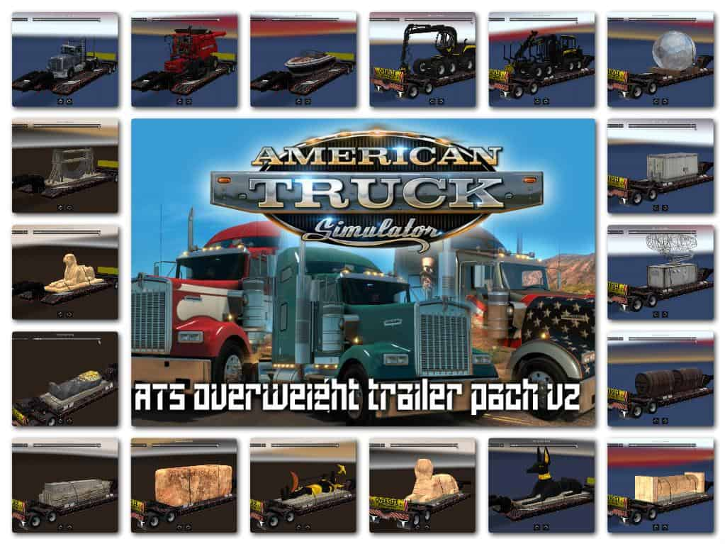 ATS OVERWEIGHT TRAILER PACK V2 MOD - American Truck