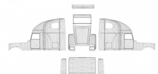 Freightliner Classic XL template for skins ATS