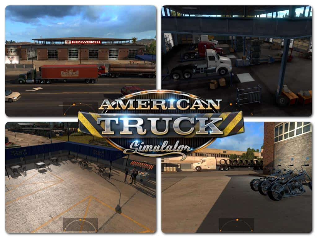 Big Garage And Service For Ats V1 Mod American Truck